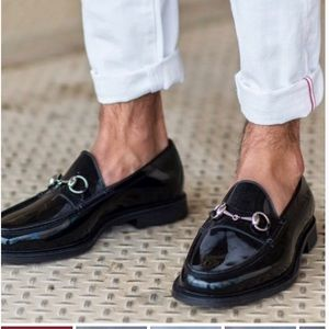 Gucci Shoes - GUCCI RUBBER HORSEBIT RAIN MEN'S LOAFERS,